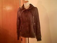aeropostale women's gray jacket/hoodie, L, cotton, zipper & buttons