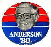 "1980 JOHN BAYARD ANDERSON 3.5"" PRESIDENT campaign pin pinback button political"