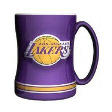 LA Los Angeles Lakers Coffee Mug Relief Sculpted Team Color Logo  14 oz NBA