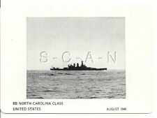 WWII Double Sided Recognition Photo Card- Navy Battleship BB North Carolina- 44