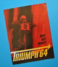 Original 1964 Triumph Motorcycle Brochure Tiger Thunderbird Bonneville Trophy