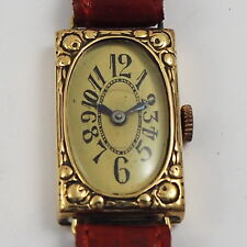 Art Deco 14ct Gold Damen Armbanduhr aus den 1930er Jahren