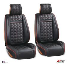 Deluxe Black PU Leather Front Seat Covers Padded For Nissan Navara Qashqai Juke