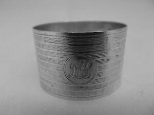 HM Silver Napkin Ring (507a) - Birmingham 1943 by E.J.Houlston - sterling