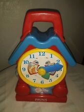 Vintage Fisher-Price 1994 Wind Up Clock With Song Tested And Works