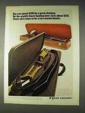 1972 Bear Archery Victor Take Down Bow Ad
