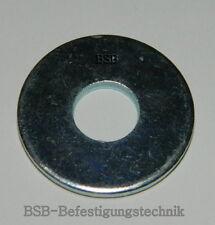 100 Stk. Große Unterlegscheiben M8  Stahl verzinkt DIN 9021