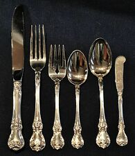 Towle Old Master Sterling Silver Place Size Set For 8 By 6 With Servers