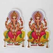 Pegatina Adhesiva 2x ganesh Goa India Hippie DIOS INDIA Puja OM 69
