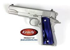 Colt 1911 Deep Blue Pearl Kirinite Grips- Standard Full Size Model
