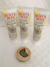 Sealed Burts Bees 3 Deep Cleansing cream .75oz / Lemon Butter Cuticle Creme .3oz