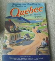 Vintage 1940s Booklet Quebec Canada Travel and History