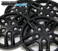 """Snap-On Hubcap 15"""" Inch Wheel Rim Skin Cover 4pcs Matte Black - 15 Inches #515"""
