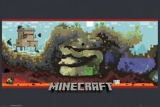 MINECRAFT LOGO POSTER (61x91cm) VIDEO GAMING MOJANG PICTURE PRINT NEW ART