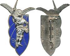 9° Chasseur Parachutiste, métal argenté, fond bleu, Boussemart 1366 (E140)