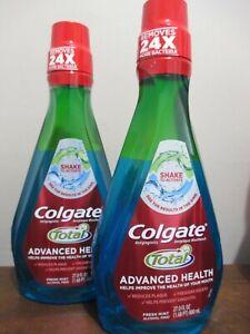 2x Colgate Total Advanced Health Mouthwash fresh mint shake 27oz 06/2022