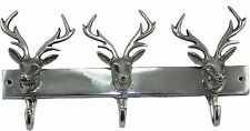 Coat Rack with Deer's Head Hook Model Wallis 36cm Aluminium Deer Antlers