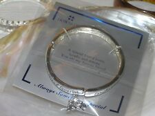 Estate Howard's Special Friend Message Saying Silvertone Stretch Bracelet with