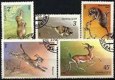 Russie 1985 SG#5586-90 protégé animaux cto utilisé set #D46074