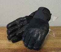 MOUNTAIN HARDWEAR Black Leather DRY.Q Insulated WOMENS SNOJO GLOVES M Ski Snow