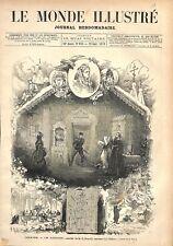 Théâtre de l'Odéon les Danicheff Comédie de Newski à Paris GRAVURE PRINT 1876
