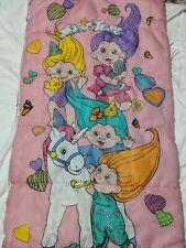 Vintage 1992 Magic Trolls Pink Sleeping Bag 30 X 57