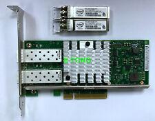 Dell 942V6 PCI-E x8 10Gb SFP+ X520-DA2 Network Card 0942V6 *2 10GB Module