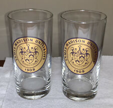 Set of 2 James Madison University JMU Dukes Glass Mug 5 1/2""