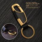 New Fashion Men'sGold Metal Car Keyring Keychain Key Chain Ring Keyfob Gift