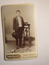 Gand - Anvers - Molenbeek - Bruxelles - stehender Junge Hut Buch / CDV Belgien
