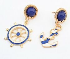 Bohemia Fashion Jewelry Vintage Drop Anchor Dangle Charm Women Ear Stud Earrings