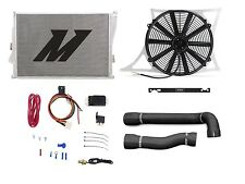 "MISHIMOTO BMW E46 M3 Radiator+Hose+Shroud+Fan and 1/8"" NPT Fan Controller BLACK"