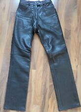 Richa Black Leather Motorcycle jeans Trousers Pants Women's -UK 10-biker