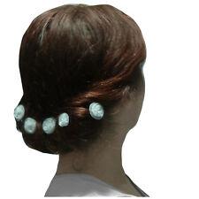 6 épingles pics cheveux chignon mariage mariée fleur tourbillon organza blanc