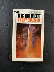 R Is For Rocket Ray Bradbury 1969 9th Printing Bantam 75 Cents Vintage Paperback