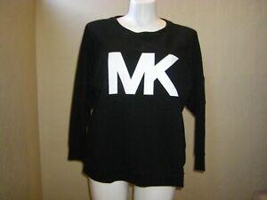 Michael Kors Basics Sweatshirt Top  MK Logo Black/White Women's Plus Size 3X NEW
