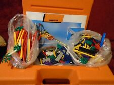 Vintage Large K'Nex 1992 Orange Storage Case W/Mixed Parts & Pieces