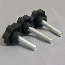 M10*100MM Black rose flower shaped plastic thumbscrew knob bolt 210PCS