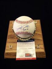 """Joe Panik San Francisco Giants SF Signed Baseball """" Beat LA """" PSA"""