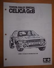 Tamiya Toyota Celica Gr.B Rally Special #58064 - Vehicle Parts Listing/Schematic