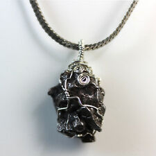 Meteorite Jewelry (Shooting Star) Wire-Wrapped in .925 Sterling Silver