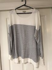 LOVELY LADIES PLUS-SIZE KNITTED  STRIPED JUMPER - Size XL