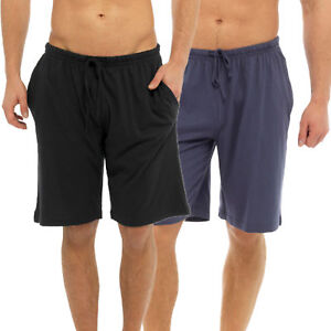 New Men's Shorts Boys Pyjamas Bottoms Cotton jersey Lounge Gym Shorts Joggers
