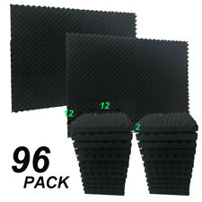 """2"""" X 12"""" X 12"""" Acoustic Studio Soundproofing Egg Crate Foam Wall Tiles 96 Pack"""