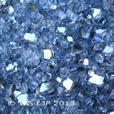 """40 LBS 1/4"""" Pacific Blue Reflective Fireglass Fireplace Glass Fire Pit Crystals"""