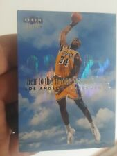 SHAQUILLE O'NEAL 1999 00 ULTRA HEIR TO THE THRONE INSERT #9 SHAQ LAKERS 🔥 MINT