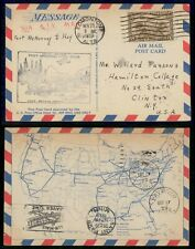 Mayfairstamps Canada First Flight cover 1929 Edmonton to St Paul map Card wwh404