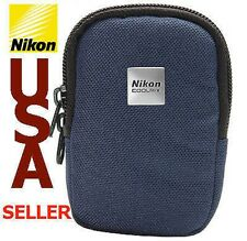 NEW AUTHENTIC NIKON COOLPIX NAVY BLUE CASE WITH LOGO FOR COMPACT DIGITAL CAMERA