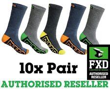 NEW 10 X FXD MULTICOLOURED SKI LONG WORK SOCKS FOOTWEAR SIZE 7-12