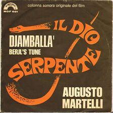 "AUGUSTO MARTELLI ""IL DIO SERPENTE"" FUNK JAZZ B.O. FILM SP 1972 CINEVOX 021"
